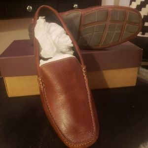 Johnston and Murphy Mahogany Leather Loafers